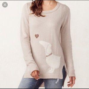 Lauren Conrad Dachshund hound dog sweater tunic
